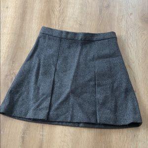 TALULA Aritzia Gray Wool Skirt, 6